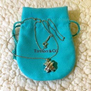 tiffany & co criss cross necklace